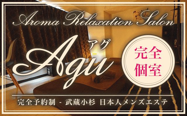 川崎・武蔵小杉メンズエステ「Agu~アグ」は、日本人セラピストによる完全予約制の本格アロマ・リンパマッサージ専門店です。